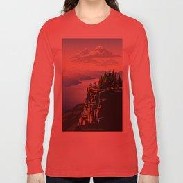 Retro travel BC poster Long Sleeve T-shirt