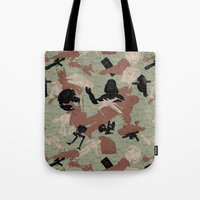 camo Tote Bags featuring Endor Battle Camo by Josh Ln