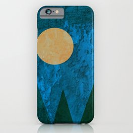 Ancestral, Abstract Landscape Mountains iPhone Case