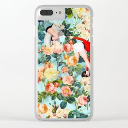 Floral and Pin Up Girls II Pattern Clear iPhone Case