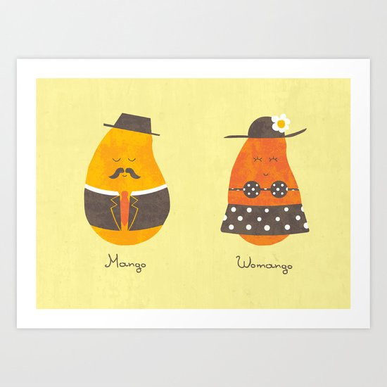 Fruit Genders Art Print