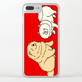 Chow Chow Dog Couple Clear iPhone Case