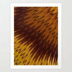 Yellow/Brown Diagonal Pattern Art Print