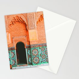marrakech doorway Stationery Cards
