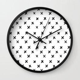 Small Cross Pattern Wall Clock