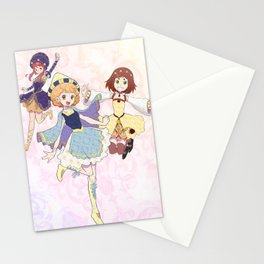 Medioeval Magical Girls Stationery Cards