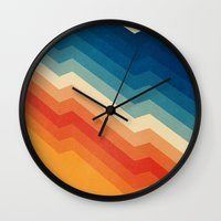 shapes Wall Clocks featuring Barricade by Tracie Andrews