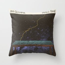 Jim Guthrie Takes Time Album Cover Throw Pillow