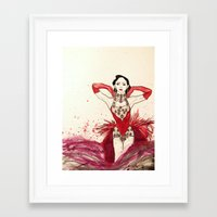 burlesque Framed Art Prints featuring Burlesque  by Rachael Withers