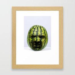 Grumpy Melon Framed Art Print
