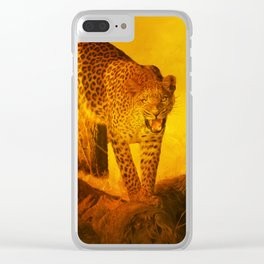 Hot Time In The Jungle Clear iPhone Case