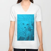 frozen elsa V-neck T-shirts featuring Frozen Elsa by ALynnArts