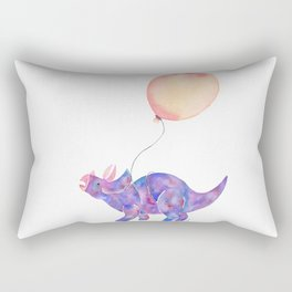 Tie-dye Triceratops Rectangular Pillow