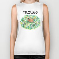 theatre Biker Tanks featuring Theatre Mouse by Rebecca Rogers