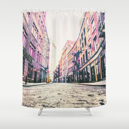 Stone Street - Financial District - New York City Shower Curtain