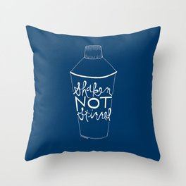 shaken in navy Throw Pillow