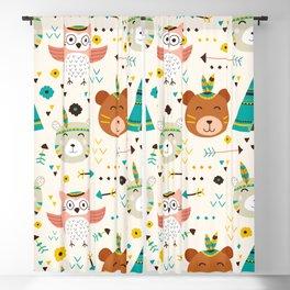 adorable boho animals Blackout Curtain