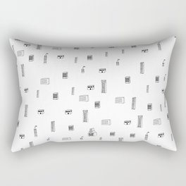Urban City Buildings Rectangular Pillow