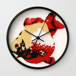 Gold Fish 1 Wall Clock