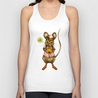 cheese Tank Tops featuring Say Cheese by Steven Toang