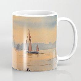 Thames Barges At Greenwich London Coffee Mug