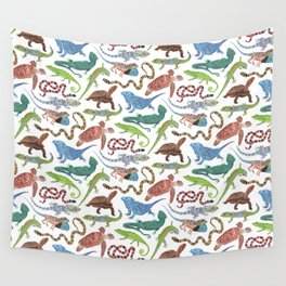 Endangered Reptiles Around the World Wall Tapestry
