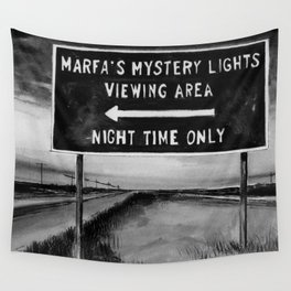 Marfa Mystery Lights, Texas Wall Tapestry
