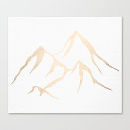 Adventure White Gold Mountains Canvas Print
