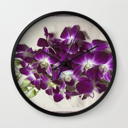 Thai Orchid - Dendrobium Cut Flower Wall Clock