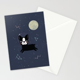 Boston Terrier In Space Stationery Cards