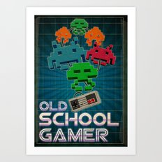 Old School Gamer Art Print