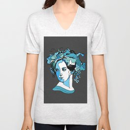 Fanny Mendelssohn Bartholdy Hensel German Pianist Female Woman Women Composer Music Musician Art Fem Unisex V-Neck