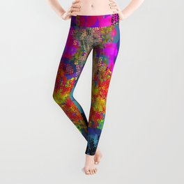 Superhero Type Art Comics SM Leggings