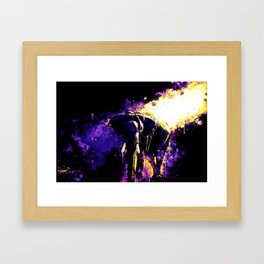 elephant jungle sunray ws ls Framed Art Print