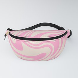 70s Retro Swirl Pink Color Abstract Fanny Pack