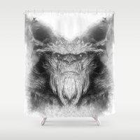 sasquatch Shower Curtains featuring Sasquatch by Zandonai