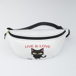 Black Cat Lover Live & Love Black Cats Fanny Pack