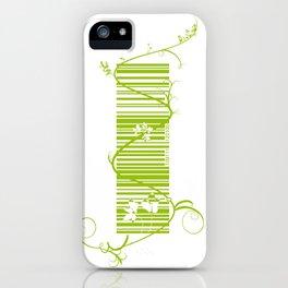 Barcode & Swirls iPhone Case