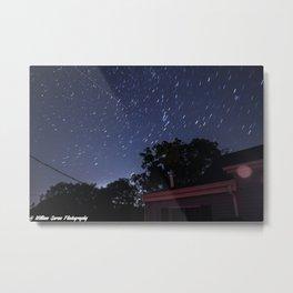 Short Star Trail Metal Print