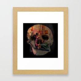 Skull machine Framed Art Print