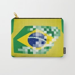 Football ball with Brazil flag Carry-All Pouch