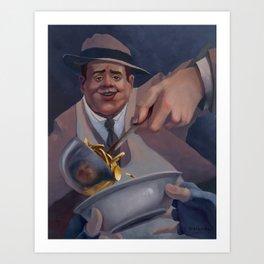 Al Capone, The Good. Art Print
