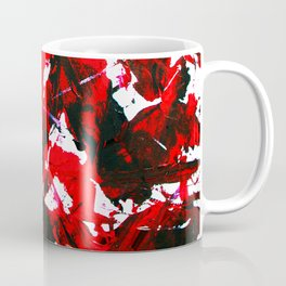 Abstract Violent Paint Expessionism Art Red and Black Coffee Mug