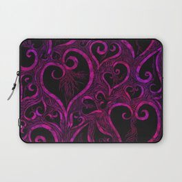 Tendrils of Love xoxo Pink and purple Laptop Sleeve