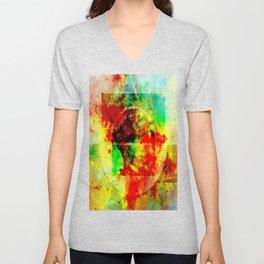 Subtle Form - Abstract colour painting Unisex V-Neck