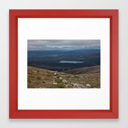 View from Cairn Gorm, 1245m Framed Art Print