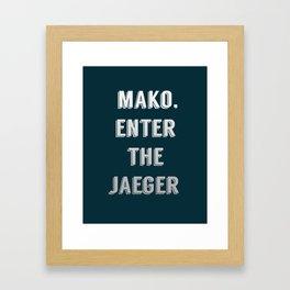 enter it! Framed Art Print