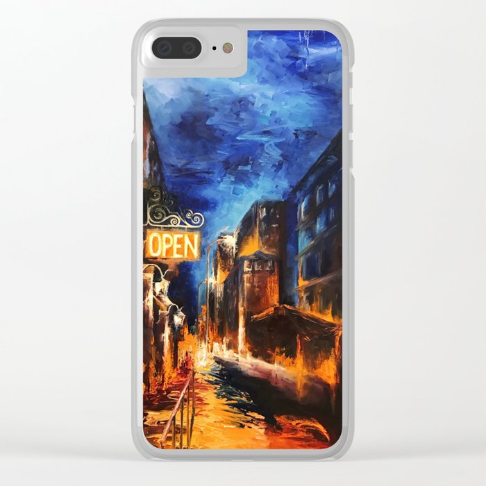 """""""Leaving New York"""" Painting Clear iPhone Case"""
