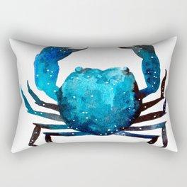 Cerulean blue Crustacean Rectangular Pillow