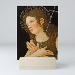 "Alessandro Botticelli ""Christ with Saint John the Baptist"" detail 1. Mini Art Print"